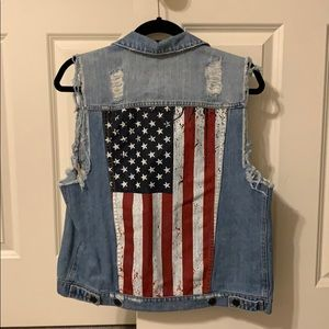 Kittenish Jackets & Coats - Kittenish American Flag Vest